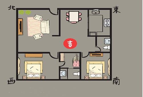 卧室加休息平面图手绘