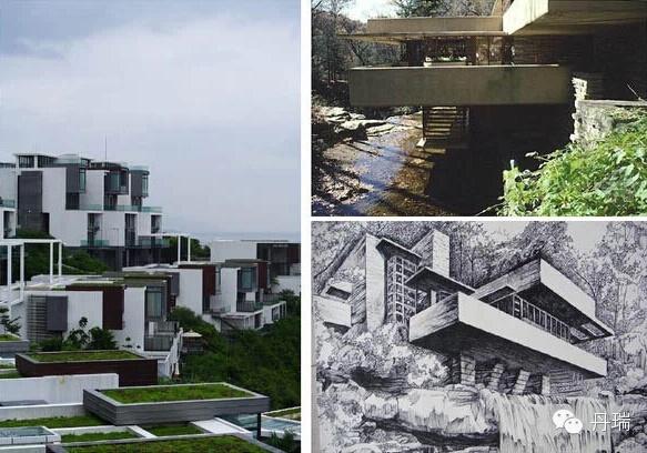 行业 建筑设计  将房屋平面向外延伸,象征性的围合了部分室外空间.