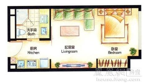 深蓝公寓 户型图