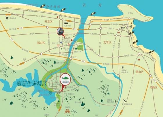 地图海拉尔盛和湖畔