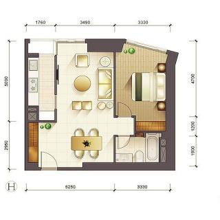 1-3号楼标准层H户型