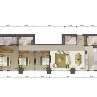 1-3号楼标准层D户型