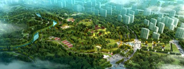 城市森林公园一期效果图