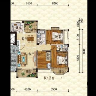 洋房E1栋6层户型图02