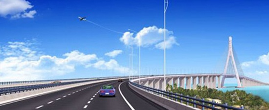 路基和桥梁宽度32米;连接线长8