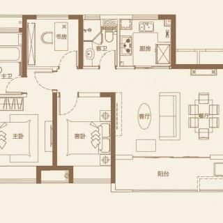 95平3室