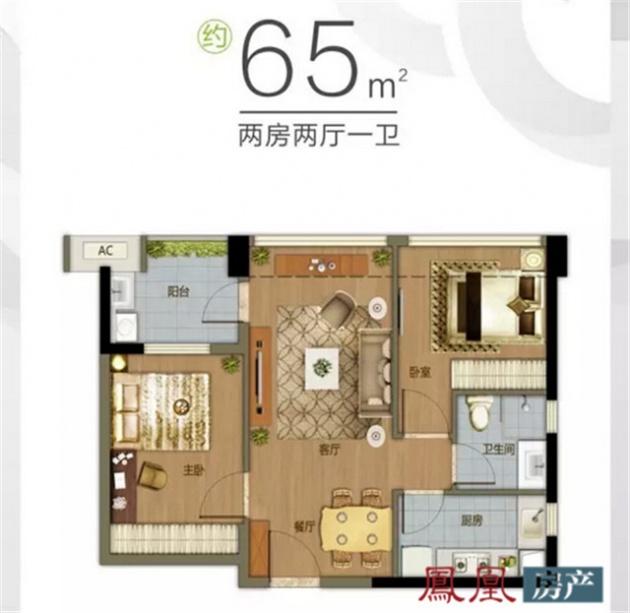 65平米套房设计图