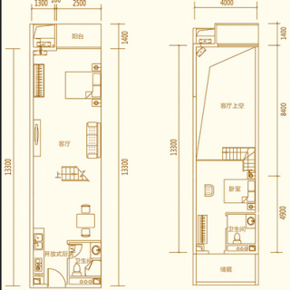 3栋65平三房户型