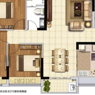 G1G2户型114㎡三房两厅
