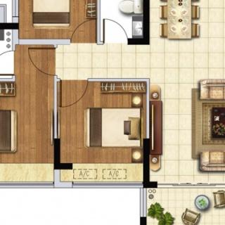E3户型89㎡2+1房两厅