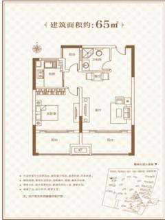 33号楼06户型 1室1厅1卫