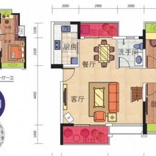 6号楼03顶层复式户型图432 155