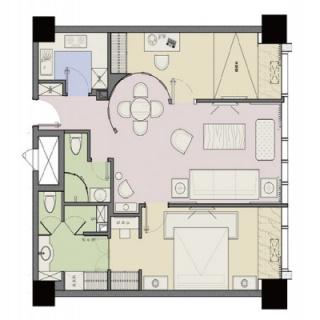 公寓楼标准层07户型
