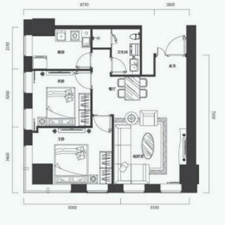 公寓标准层E户型
