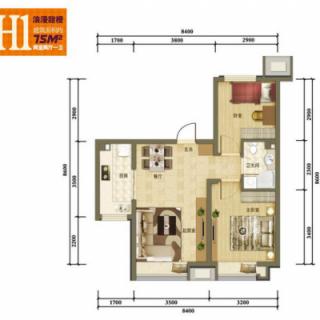 二期洋房标准层H1户型
