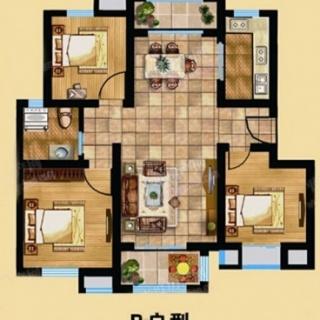 B-3室2厅1卫-102.00㎡