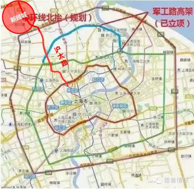 中环北抬之后,沪太路将改建成高架路,从外环顾村立交到新中环的距离仅