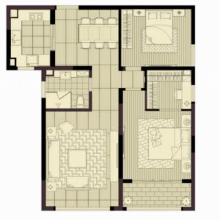 两房117平