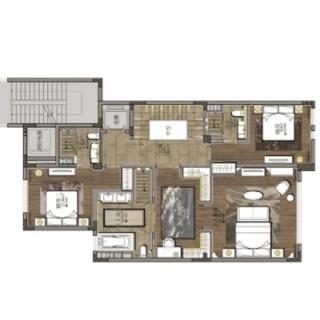 世家墅叠加边套下叠地上二层-1