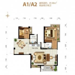 淇水湾5号 A1/A2 户型