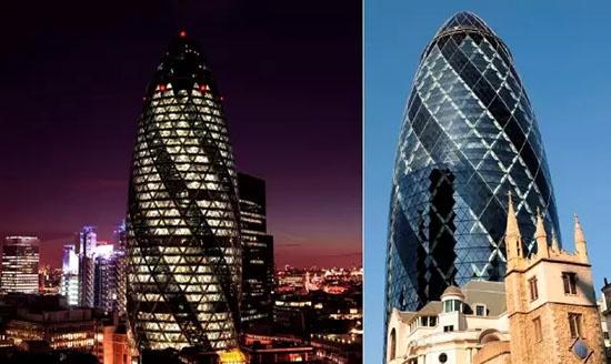 伦敦的瑞士再保险塔