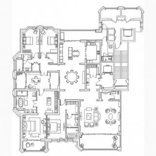 A6户型平面图