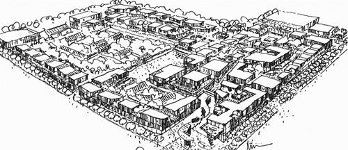 2008年初郝琳绘制的成都远洋太古里草图规划设计项目射击馆建筑设计规范图片