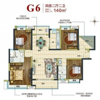 G6户型四房
