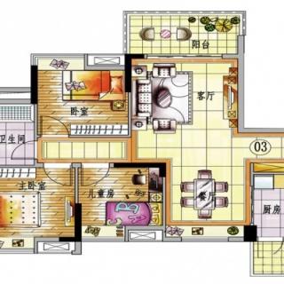 4栋A梯03单元户型图【在售】