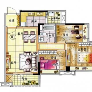4栋A梯01单元户型图【在售】