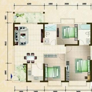 柏林园三房公寓户型图