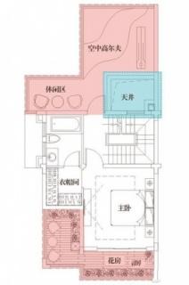 三期悦墅联排别墅149㎡户型三层