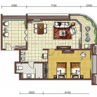 阳光假日二期养生公寓B6-a户型