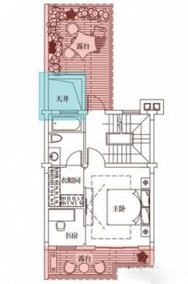 三期悦墅联排别墅133㎡户型三层