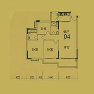 4栋(F3)04单位户型图