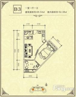 1#-B3户型图