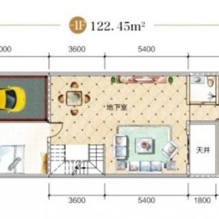 B1栋联排别墅-1F