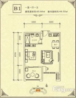 1#-B1户型图