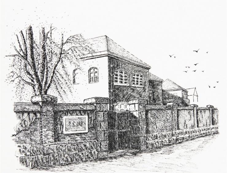 钢笔画出青岛老建筑 别有一番风味