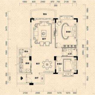 C1栋04单元户型图