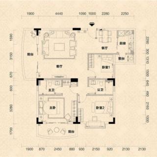 C2栋02单元户型图