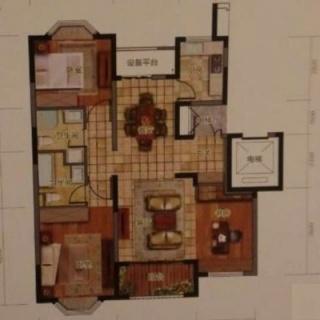 3+1房户型图
