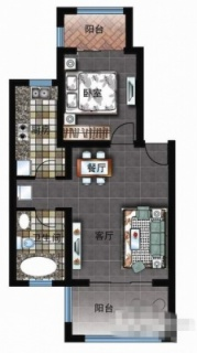 三区洋房E户型图
