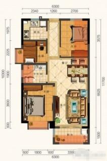 B户型 3室2厅(73㎡)