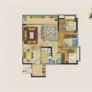 18号楼1单元 2户型