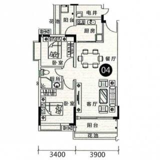 16栋1梯04户型图