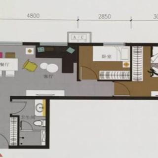 70平米两居户型图