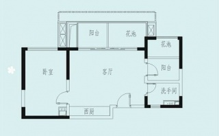 湖畔公寓户型图