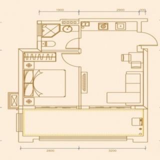 51.32平米一房两厅一卫