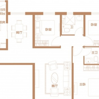 4号楼首层户型(三)